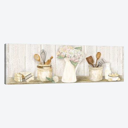 Vintage Kitchen Panel Canvas Print #TRE207} by Tara Reed Art Print