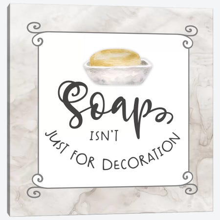 Bath Humor Soap Canvas Print #TRE213} by Tara Reed Art Print