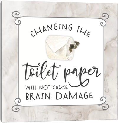 Bath Humor Toilet Paper Canvas Art Print