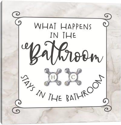 Bath Humor What Happens Canvas Art Print