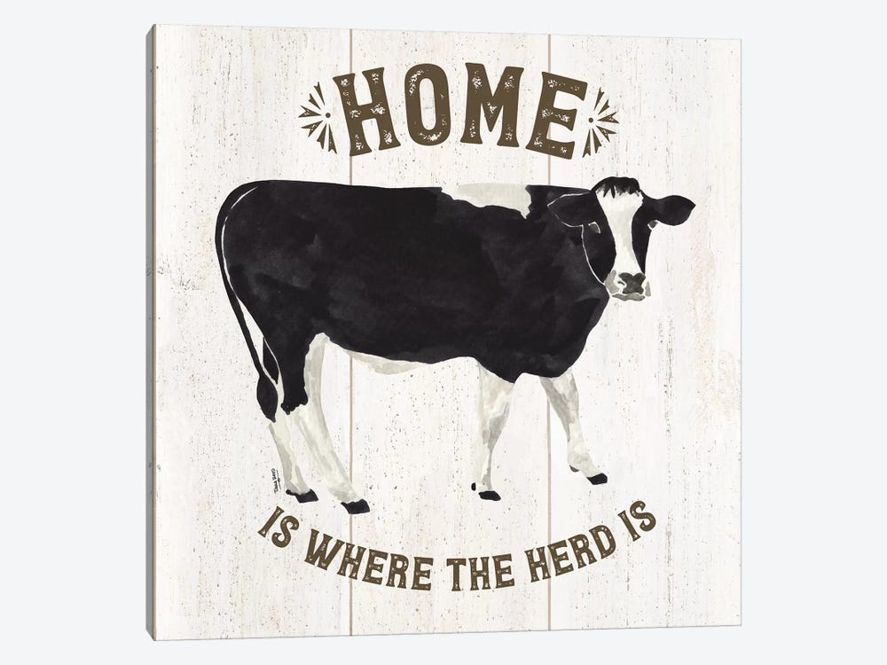Farm Life Cow Home Herd by Tara Reed 1-piece Canvas Art