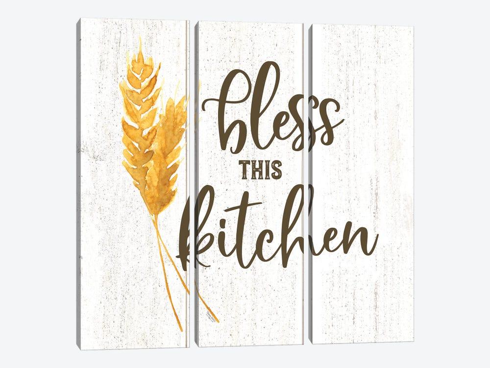 Farm Life I Bless This Kitchen by Tara Reed 3-piece Canvas Print