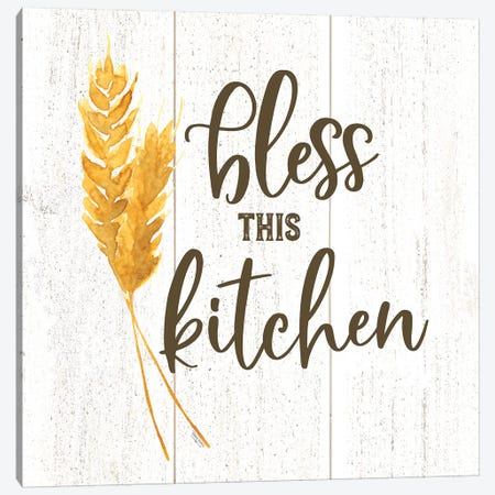 Farm Life I Bless This Kitchen Canvas Print #TRE220} by Tara Reed Canvas Wall Art