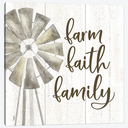 Farm Life III Farm Faith Family 3-Piece Canvas #TRE222} by Tara Reed Canvas Wall Art