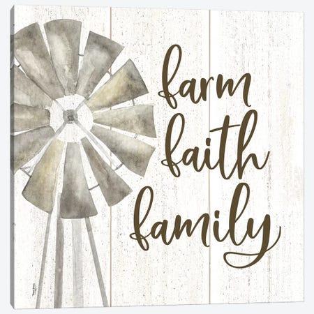 Farm Life III Farm Faith Family Canvas Print #TRE222} by Tara Reed Canvas Wall Art