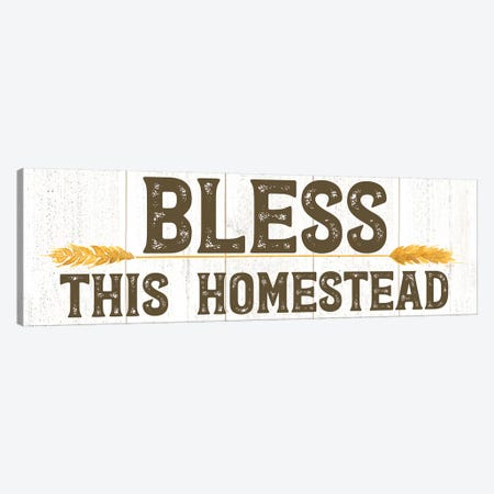 Farm Life Panel Bless this Homestead Canvas Print #TRE224} by Tara Reed Canvas Art Print