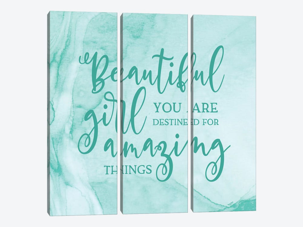 Girl Inspired -Amazing by Tara Reed 3-piece Canvas Art Print