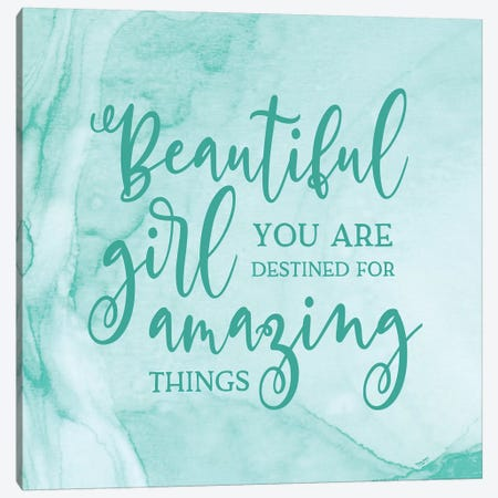 Girl Inspired -Amazing Canvas Print #TRE226} by Tara Reed Canvas Print