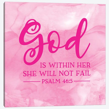 Girl Inspired- God Within Canvas Print #TRE228} by Tara Reed Canvas Art
