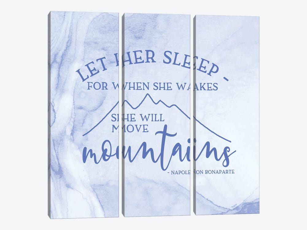 Girl Inspired- Move Mountains by Tara Reed 3-piece Canvas Art
