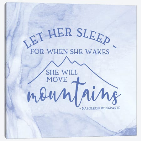 Girl Inspired- Move Mountains Canvas Print #TRE229} by Tara Reed Canvas Artwork
