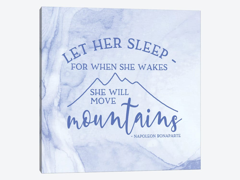 Girl Inspired- Move Mountains by Tara Reed 1-piece Canvas Art