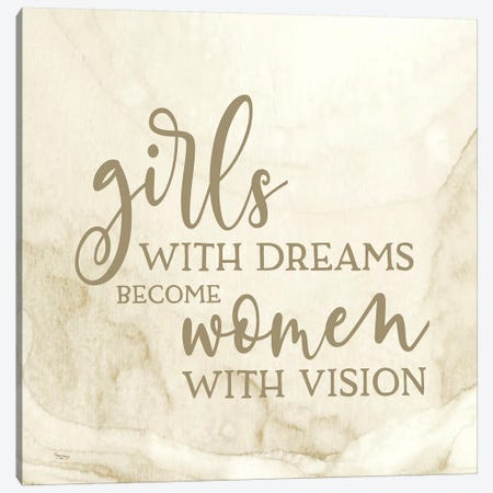 Girl Inspired-Dreams Canvas Print #TRE230} by Tara Reed Canvas Art Print