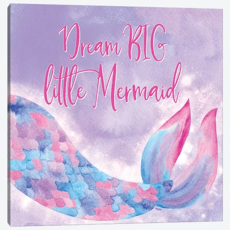 Mermaid Life I Pink/Purple Canvas Print #TRE231} by Tara Reed Canvas Art Print