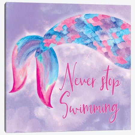 Mermaid Life II Pink/Purple Canvas Print #TRE232} by Tara Reed Art Print