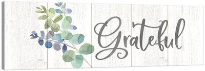 Natural Inspiration Blue Grateful sign Canvas Art Print