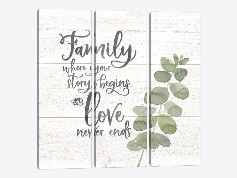 Natural Inspiration Family square by Tara Reed 3-piece Canvas Art Print