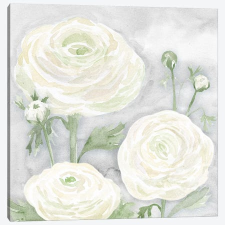 Peaceful Repose Floral on Gray I Canvas Print #TRE239} by Tara Reed Art Print