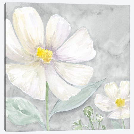 Peaceful Repose Floral on Gray III Canvas Print #TRE241} by Tara Reed Canvas Art