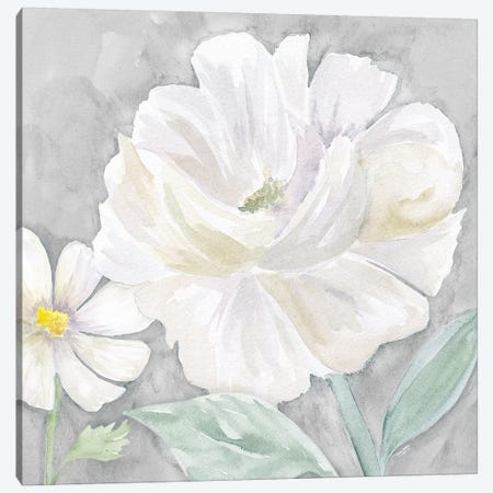 Peaceful Repose Floral on Gray IV Canvas Print #TRE242} by Tara Reed Canvas Art