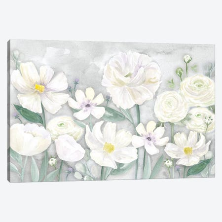 Peaceful Repose Gray Floral Landscape Canvas Print #TRE243} by Tara Reed Canvas Artwork