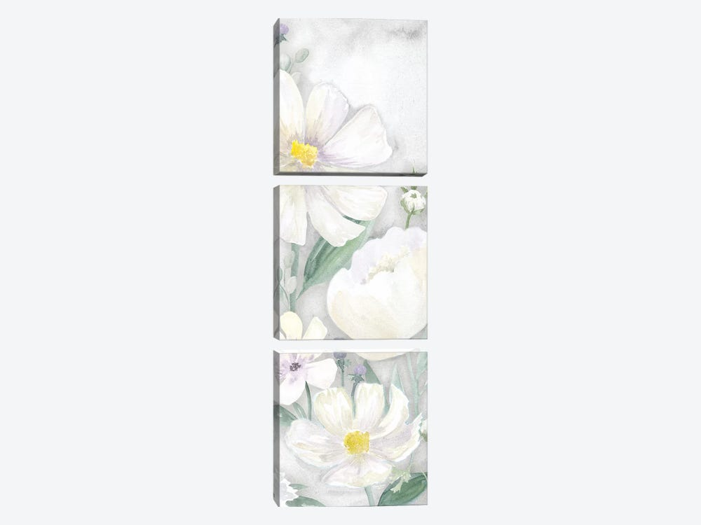 Peaceful Repose Gray Panel I by Tara Reed 3-piece Art Print