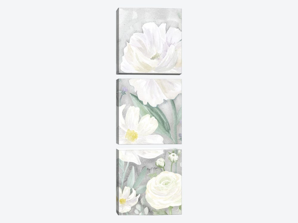 Peaceful Repose Gray Panel II by Tara Reed 3-piece Canvas Artwork