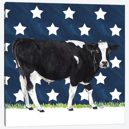 Cow and Stars I Canvas Print #TRE249} by Tara Reed Canvas Art