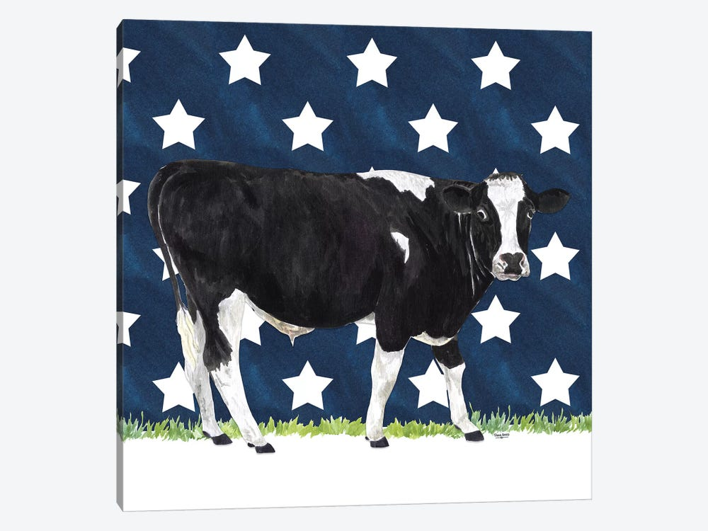 Cow and Stars I by Tara Reed 1-piece Canvas Art