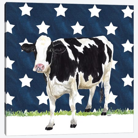 Cow and Stars II 3-Piece Canvas #TRE250} by Tara Reed Canvas Art Print