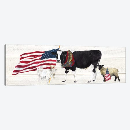 Farm Animal Trio Panel II Canvas Print #TRE254} by Tara Reed Canvas Wall Art
