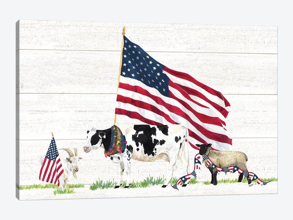 Farm Animal Trio Landscape by Tara Reed 1-piece Art Print