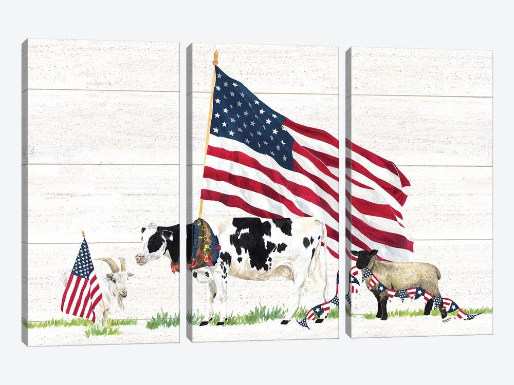 Farm Animal Trio Landscape by Tara Reed 3-piece Canvas Print