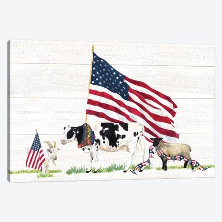 Farm Animal Trio Landscape Canvas Print #TRE255} by Tara Reed Canvas Art