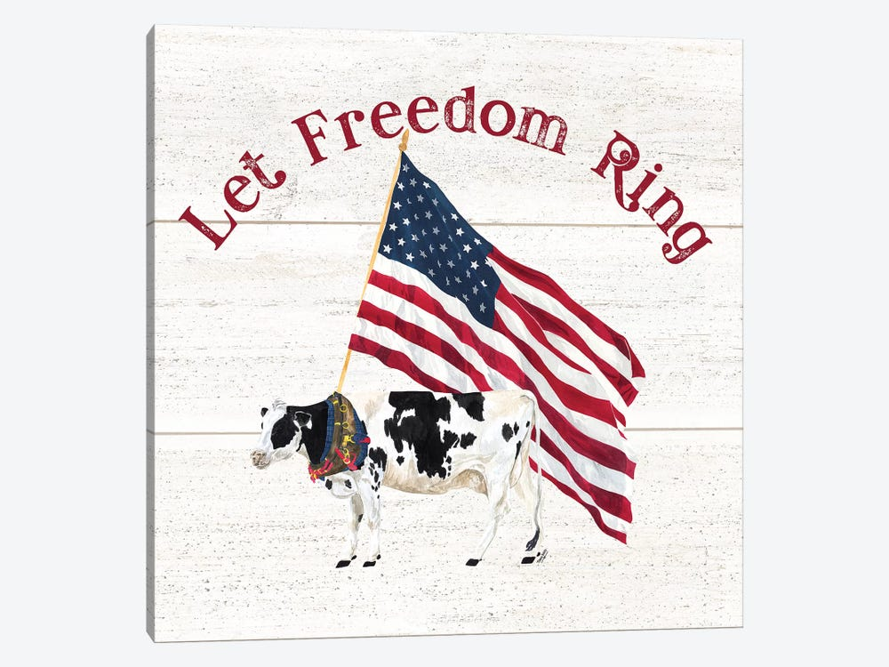 Let Freedom Ring Square II by Tara Reed 1-piece Art Print