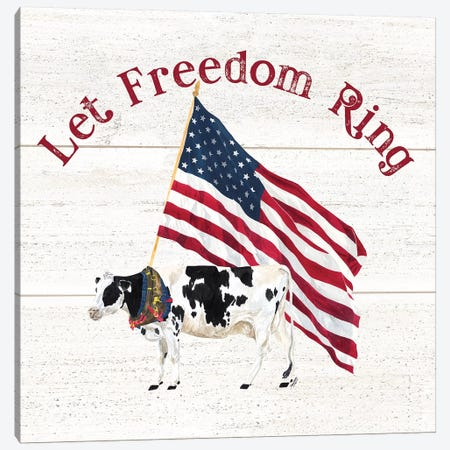 Let Freedom Ring Square II 3-Piece Canvas #TRE257} by Tara Reed Canvas Art