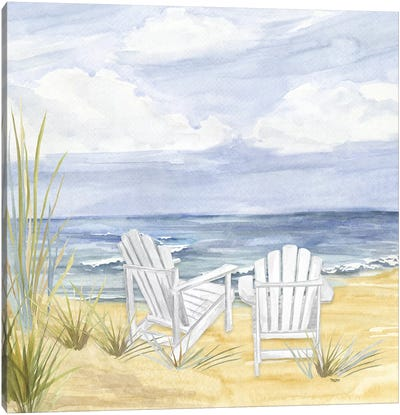 By The Sea Canvas Art Print