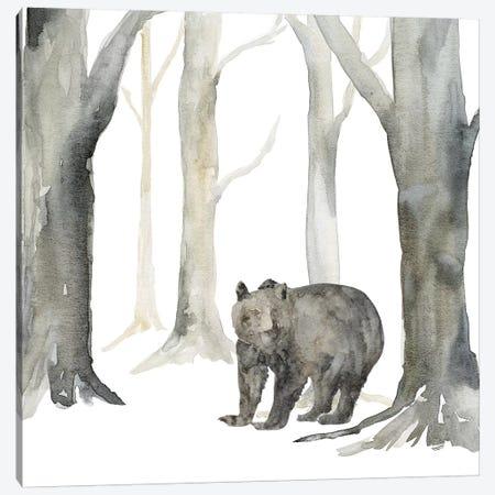 Winter Forest Bear Canvas Print #TRE269} by Tara Reed Canvas Art