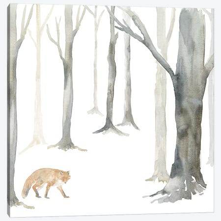 Winter Forest Fox Canvas Print #TRE271} by Tara Reed Art Print