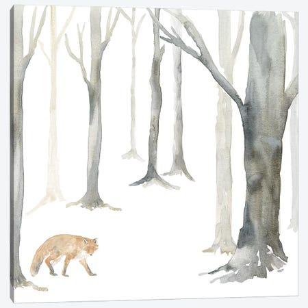 Winter Forest Fox Canvas Print #TRE271} by Tara Reed Art Print