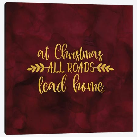 All that Glitters for Christmas I-All Roads Canvas Print #TRE273} by Tara Reed Canvas Print