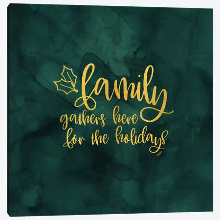 All that Glitters for Christmas III-Family Gathers Canvas Print #TRE275} by Tara Reed Canvas Art