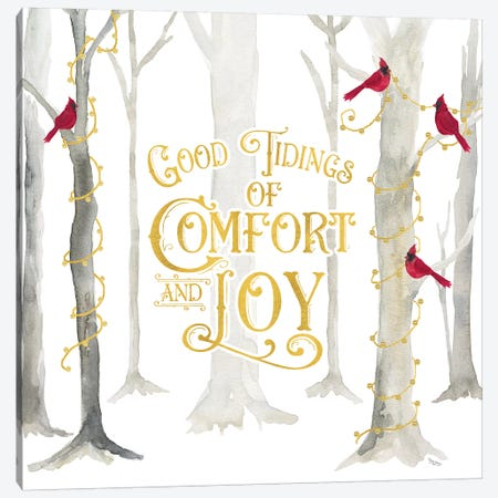 Christmas Forest I Good Tidings Canvas Print #TRE282} by Tara Reed Canvas Wall Art
