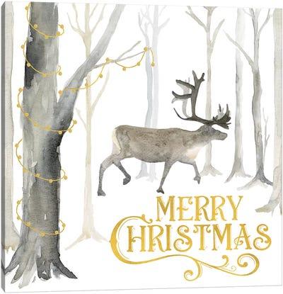 Christmas Forest II Merry Christmas Canvas Art Print