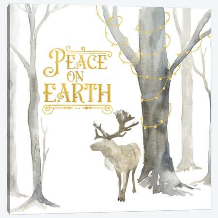 Christmas Forest III Peace on Earth Canvas Print #TRE284} by Tara Reed Art Print