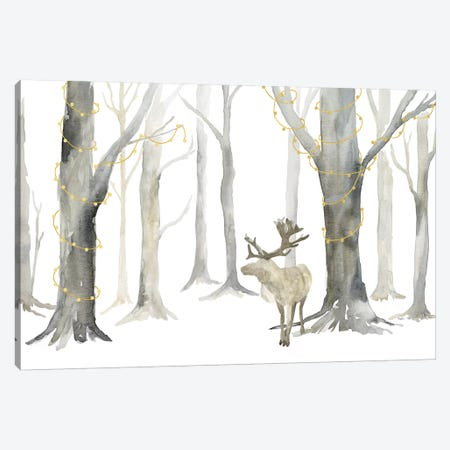 Christmas Forest landscape Canvas Print #TRE286} by Tara Reed Canvas Print