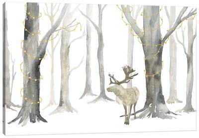 Christmas Forest landscape Canvas Art Print