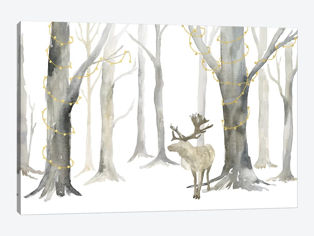 Christmas Forest landscape by Tara Reed 1-piece Art Print