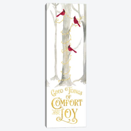 Christmas Forest panel III-Comfort and Joy Canvas Print #TRE287} by Tara Reed Art Print
