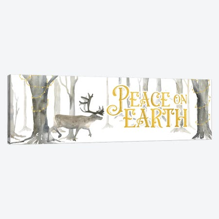 Christmas Forest panel II-Peace on Earth Canvas Print #TRE288} by Tara Reed Canvas Art
